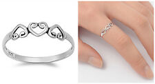 Sterling Silver 925 PRETTY HEART LOVE BAND DESIGN PROMISE RING 4MM SIZES 3-10