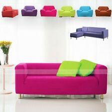 Solid Color Stretch Fit Sofa Couch Slipcover Loveseat Chair Furniture Cover Home