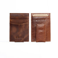 Mens Pu Leather Slim Wallet Magnetic Front Pocket Money Clip Wallet Coin Clutch