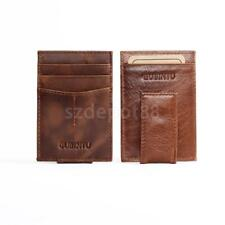 Pu Leather Mens Wallet Money Clip Purse ID Credit Card Holder Coin Clutch Magnet