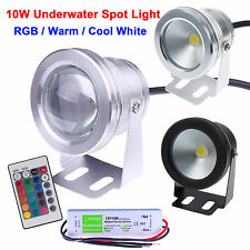 IP68 10W LED Underwater Spot Light RGB Warm Cool White Pond Pool Light Lamp Bulb