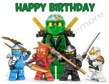 Lego Ninjago Personalized Edible Image Premium Cake Topper Frosting Sheet 4 Size