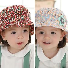 Baby Kids Girl Child Infant Newborn Toddler Pearl Decor Floral Ruffles Hats Caps