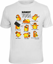 Fun T-Shirt Hamster Handy Yoga Smartphone Shirt Gift cool printed