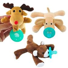 2016 Infant Baby Newborn Silicone Pacifiers w/ Cuddly Plush Animal Baby Nipples