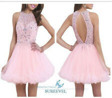 Pink Tulle Formal Evening Dresses Short Party Dress Bridesmaid Dresses Ball Gown