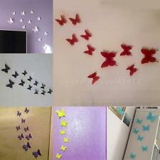 12 pcs 3D Butterfly Sticker Art Wall Stickers Decals Room Decorations Home Decor