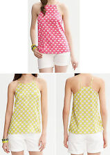NWT Banana Republic New $79.5 Milly Collection Silk Printed Halter Top PXS,PS,PM
