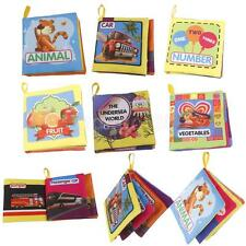 INFANT BABY KID CLOTH BOOK INTELLIGENCE DEVELOPMENT COGNIZE BOOK EDUCATION TOYS