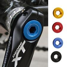 MTB Bike Bicycle Cycle Anodized Arm Fixed Bolt Crank Chainset Screw Chain Axis