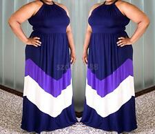 Sexy Women Plus Size Casual Sleeveless Cocktail Party Evening Maxi Dress