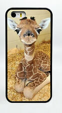 NEW BABY GIRAFFE ANIMAL BLACK PHONE CASE COVER FOR IPHONE 7 6S 6 PLUS 5C 5S 5 4S