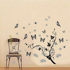 Butterfly Living Room Waterproof Black Cane Stickers Decal Background Home Decor