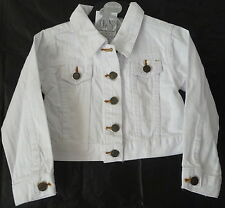 Girls white cropped denim jacket by FUNKY DIVA  Sizes 2-3 &  3-4  years BNWT