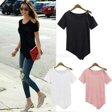 New Fashion Women's Loose Off Shoulder Tops Short Sleeve Shirt Casual Blouse
