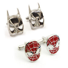 Super Hero Batman Spider-man Men's Cufflinks Wedding Groom Shirt Cuff Links Gift