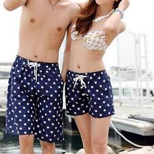 Hot Womens Mens Lovers Couple Dots Short Pants Beach Surf Board Swim Shorts Size