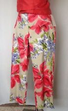 NWT WILLI SMITH Stretch Size 14 Cotton Floral Pants