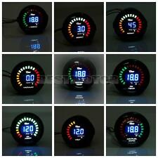 2'' 52mm CAR LED Water Temp/Oil Pressure/Tachometer/Volt/Boost Air Fuel Gauge