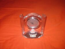LENOX OVATIONS SYNCHRONICITY FULL LEAD CRYSTAL CLOCK QUARTZ  HEAVY