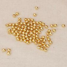 100pcs Shiny Gold Round 4mm/6mm Spacer Beads with 1mm/2mm Hole DIY Jewelry Craft