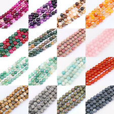 1Bunch Lots Natural Gemstone Spacer Bead Necklace Jewelry Findings 4/6/8/10/12mm