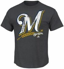 Milwaukee Brewers MLB Majestic Mens Takin' Em To School Shirt Big & Tall Sizes