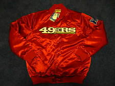 Mens SAN FRANCISCO 49ers STARTER JACKET NFL Satin Red SIZE L BRAND NEW!