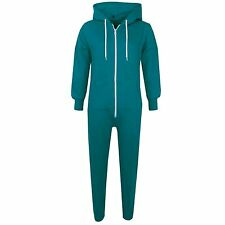 New Kids Girls Boys Plain Turquoise Onesie All In One Jumpsuit Sleepsuit 5-13 Yr