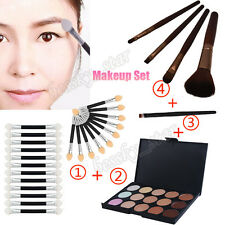 15Color Eyeshadow Palette 4Pc Makeup Brush 12Pcs Double-end Eye Shadow Brush Set