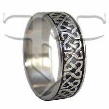 Celtic Ring | Stainless Steel Celtic Square Knot Ring | Celtic Wedding Band