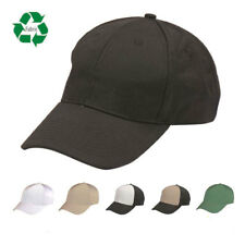 Eco Friendly Recycled Fabric 6 Panel Baseball Hats Caps Hook and Loop Closure