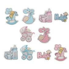 10pcs Wooden Shape Its A Boy/Girl Embellishments for Crafts Baby Shower Supply