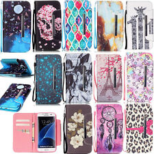 Card Holder Wallet Case for Samsung S7 S6 Edge iPhone 6S 5S PU Stand Phone Cover