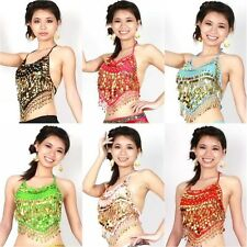 Women Ladies Mix Flair Wrap Top Choli Belly Dance Club Costume Gypsy Bra Tribal