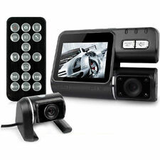 Dual Lens Front and Rear Camera HD 720p H.264 Car Dash Windscreen + Reverse Cam