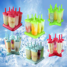 6Pcs/Set Frozen Juice Popsicle Mould Freezer Pop Lolly Ice Cream Mold DIY Maker