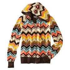 New Authentic Missoni SOFT Velour Hoodie Sweater w pockets - Colore Chevron