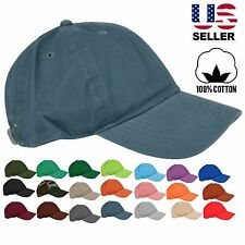 Casual Simple Plain Blank Washed 100% Cotton Baseball Adjustable Cap Hat.