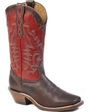 Boulet Men's Fancy Stitched Cowboy Boot Square Toe
