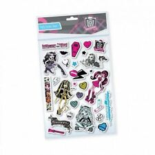 3 Sheets of Monster High Foam Stickers Brand New over 75 stickers