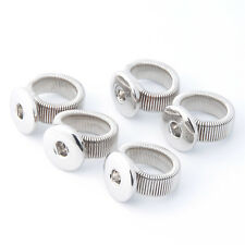Wholesale Lots Stretch Adjustable Ring Fit 18mm Snap Buttons size free SR18-1