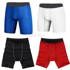 New Men Tight Short Fitness Sport Pants Compression Skin Quick Dry Training Gym