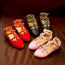 New 2016 Summer Spring Kids Toddlers Girls Princess Rivet Dress Leather Shoes