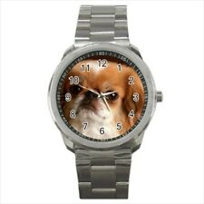 Cute Pekingese Round & Square Leather Strap Watch - Puppy Dog