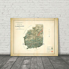 Clarion County PA 1878 Geology Map Repro Large Photo Poster 8x10 to 30x40