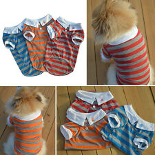Lovely Pet Dog Clothes Cat Puppy Doggy Strioe Polo Shirt T-shirt Apparel Costume