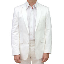 NEW - Marco Carlotti - Men's White Cotton Suit - Designer Finish - Regular Fit