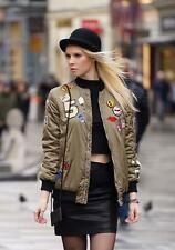 BNWT ZARA OVERSIZED  BOMBER JACKET WITH PATCHES REF.5070/008