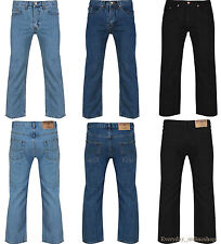 "NEW MENS ADULTS STRAIGHT LEG BOYS WORK BRANDED FASHION DENIM JEANS SIZE 30""to50"""